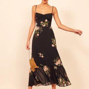 Reformation Emersyn Dress Black Floral Dress 8